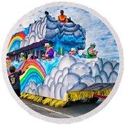 The Spirit Of Mardi Gras Round Beach Towel by Steve Harrington