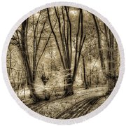 The Spring Forest Round Beach Towel