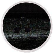 The Swan Of Tuonela Round Beach Towel