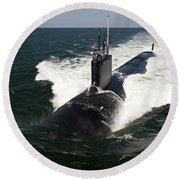 The Virginia-class Attack Submarine Uss Round Beach Towel