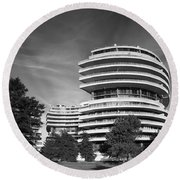 The Watergate Hotel - Washington D C Round Beach Towel