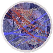 The Writing On The Wall 10 Round Beach Towel