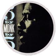 Thelonious Monk -  5 By Monk By 5 Round Beach Towel