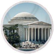 Thomas Jefferson Memorial In Washington Dc Usa Round Beach Towel