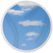 Thought Clouds Round Beach Towel