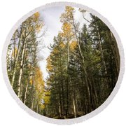 A Path Through The Woods  Round Beach Towel
