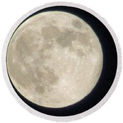 Thunder Moon Round Beach Towel