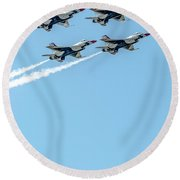 Thunderbirds In Formation  Round Beach Towel