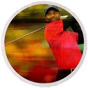 Tiger Woods Round Beach Towel