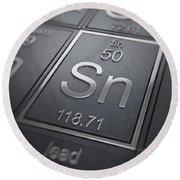 Tin Chemical Element Round Beach Towel