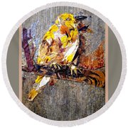 Tired Bird Round Beach Towel