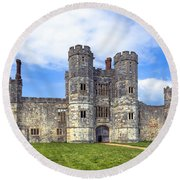 Titchfield Abbey Round Beach Towel