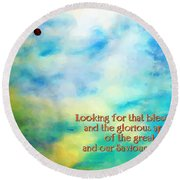 Titus 2 13 Round Beach Towel