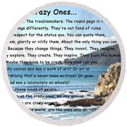 To The Crazy Ones Round Beach Towel