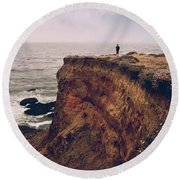 To The Ends Of The Earth Round Beach Towel