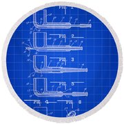 Tobacco Pipe Patent 1944 - Blue Round Beach Towel