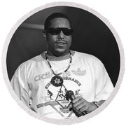 Rapper Tone Loc Round Beach Towel