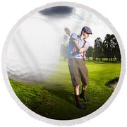 Top Flight Golf Round Beach Towel