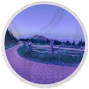 Top Of Mount Mitchell After Sunset Round Beach Towel