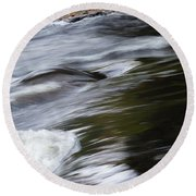 Top Of The Falls Round Beach Towel
