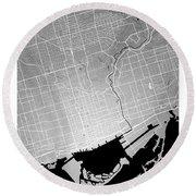 Toronto Street Map - Toronto Canada Road Map Art On Colored Back Round Beach Towel