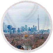 Toronto View Round Beach Towel