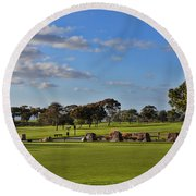 Torrey Pines Golf Course Round Beach Towel