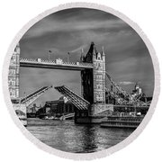 Tower Bridge Vintage Round Beach Towel