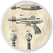 Toy Ray Gun Patent 1952 - Vintage Round Beach Towel
