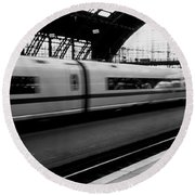Train Station, Cologne, Germany Round Beach Towel