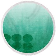 Tranquility Round Beach Towel by Linda Woods