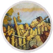 Treasure Island, 1911 Round Beach Towel