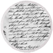 Treaty Of Alliance, 1778 Round Beach Towel