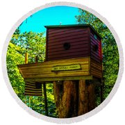 Tree House Round Beach Towel