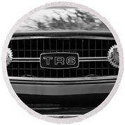 Triumph Tr 6 Grille Emblem Round Beach Towel
