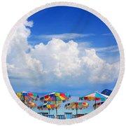 Tropical Holiday Destination Round Beach Towel