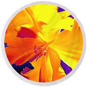 Tulip 6 Round Beach Towel