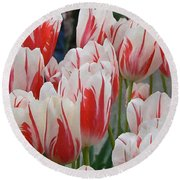 Tulips 8 Round Beach Towel