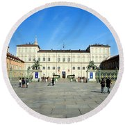 Turin Palazzo Reale Round Beach Towel