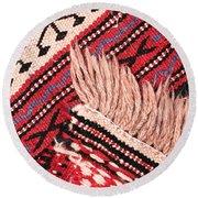 Turkish Rug Round Beach Towel by Tom Gowanlock