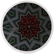 Turkish Tile Design Round Beach Towel