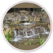 Turtle Head Falls  Round Beach Towel