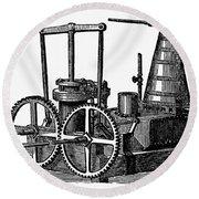 Twin-screw Steamer, 1878 Round Beach Towel