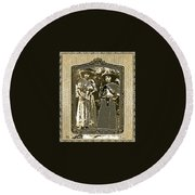 Two  Soldaderas Unknown Mexico Location Or Date-2014 Round Beach Towel