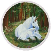 Unicorns Lap Round Beach Towel