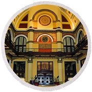 Union Station Lobby Larger Size Round Beach Towel