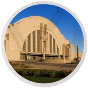 Union Terminal, Cincinnati Round Beach Towel