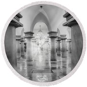 United States Capitol Crypt Round Beach Towel
