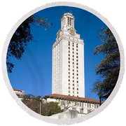 University Of Texas At Austin Round Beach Towel