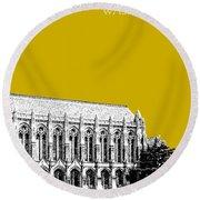 University Of Washington - Suzzallo Library - Gold Round Beach Towel